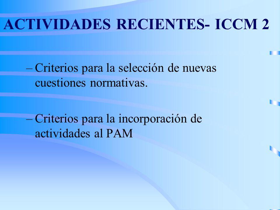 ACTIVIDADES RECIENTES- ICCM 2