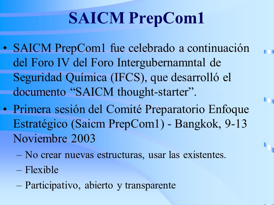 SAICM PrepCom1