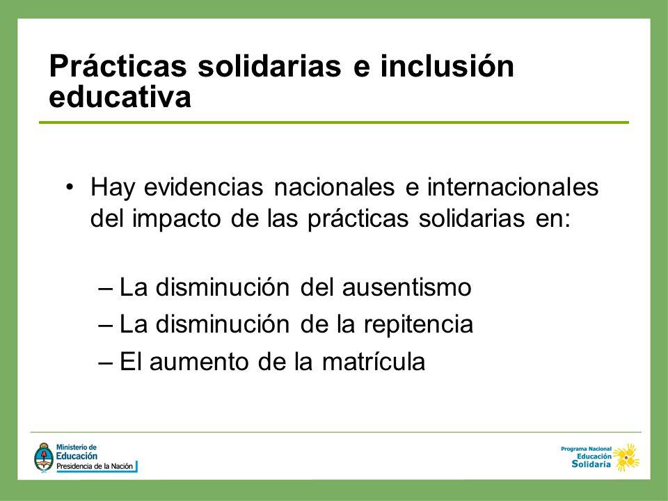 Prácticas solidarias e inclusión educativa