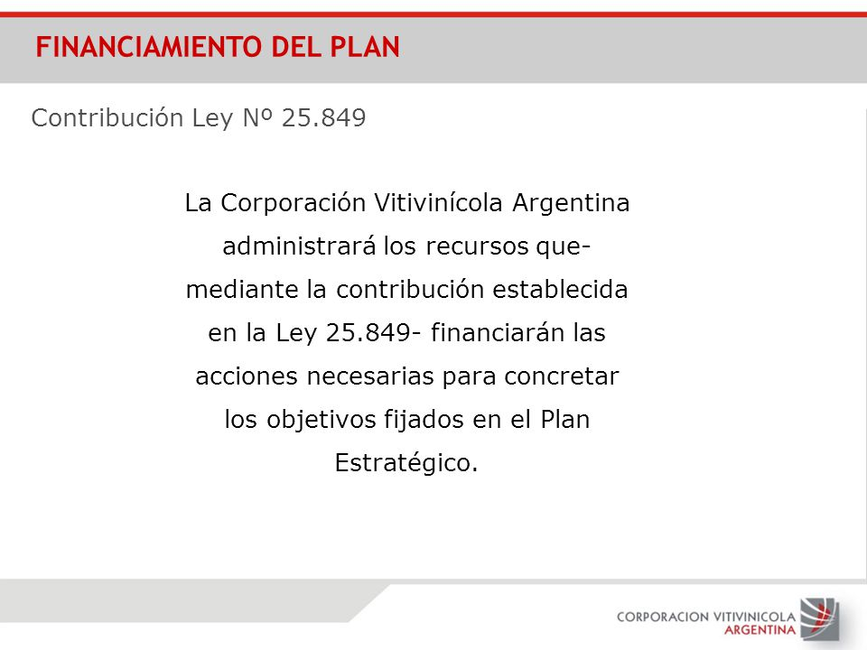 FINANCIAMIENTO DEL PLAN