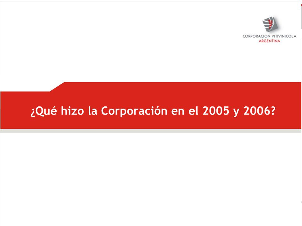 ¿Qué hizo la Corporación en el 2005 y 2006