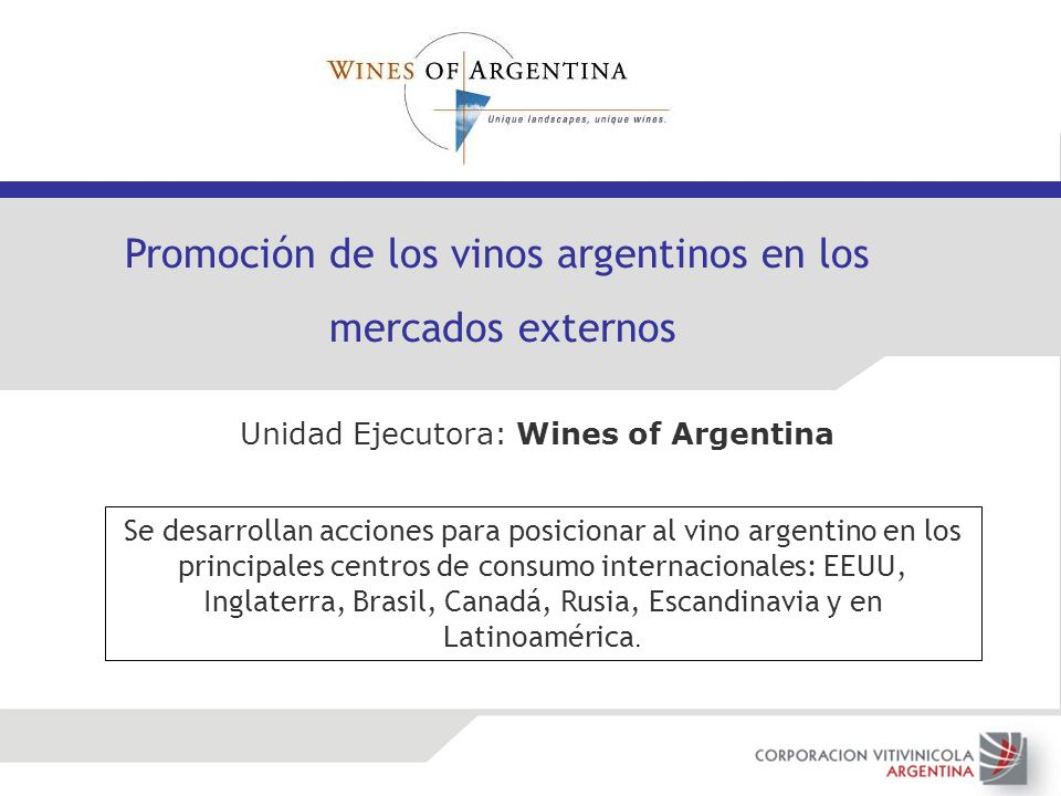 Promoción de los vinos argentinos en los