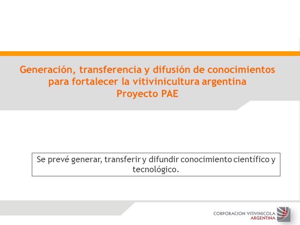 Generación, transferencia y difusión de conocimientos para fortalecer la vitivinicultura argentina