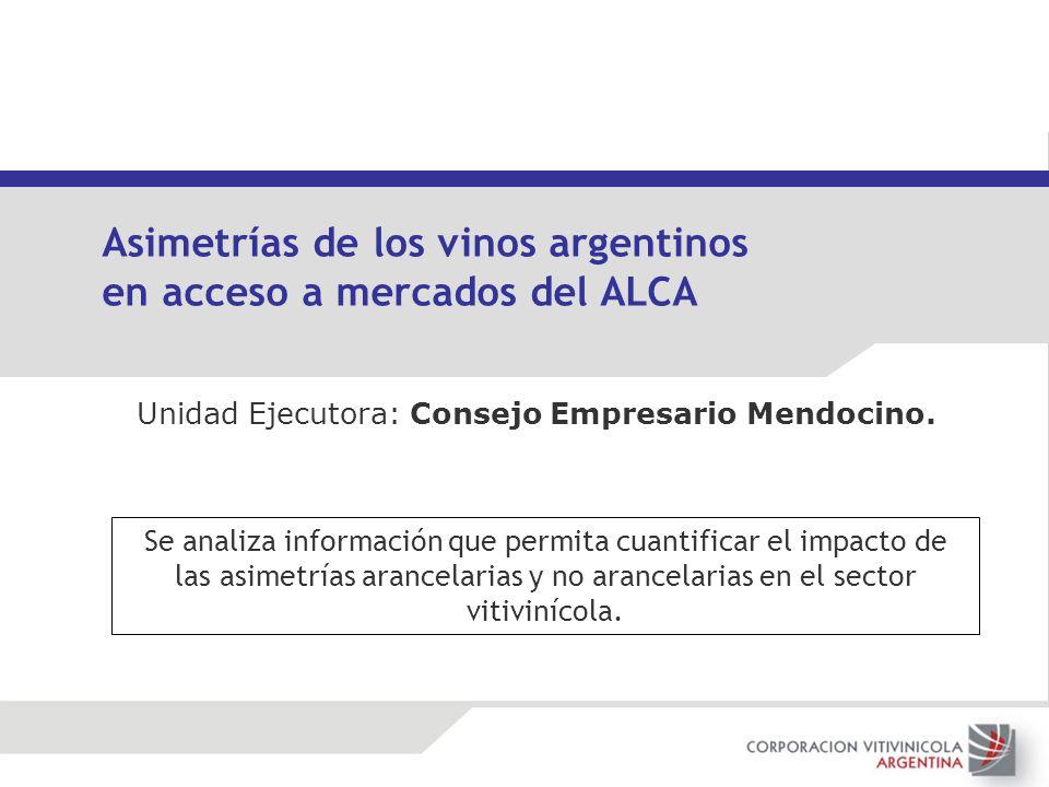 Asimetrías de los vinos argentinos en acceso a mercados del ALCA