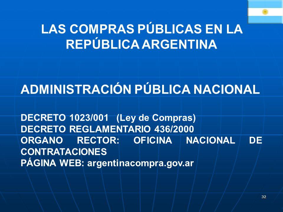 LAS COMPRAS PÚBLICAS EN LA REPÚBLICA ARGENTINA