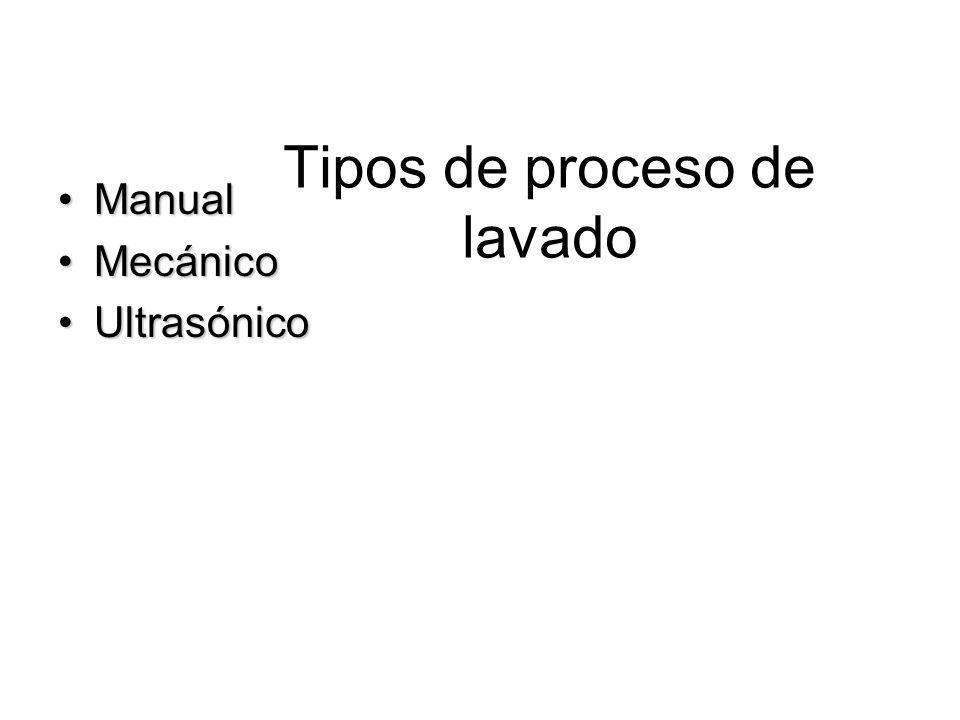 Tipos de proceso de lavado