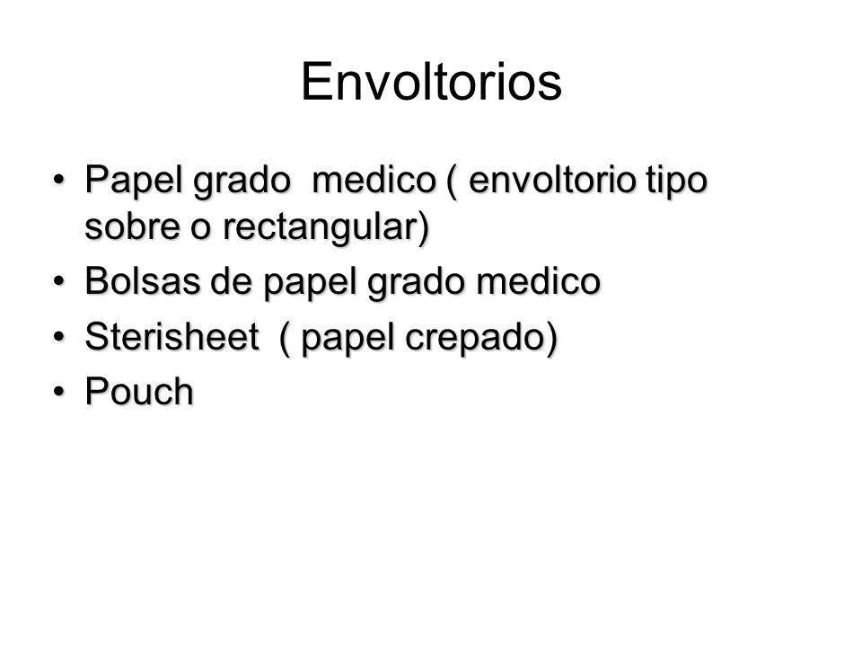 Envoltorios Papel grado medico ( envoltorio tipo sobre o rectangular)