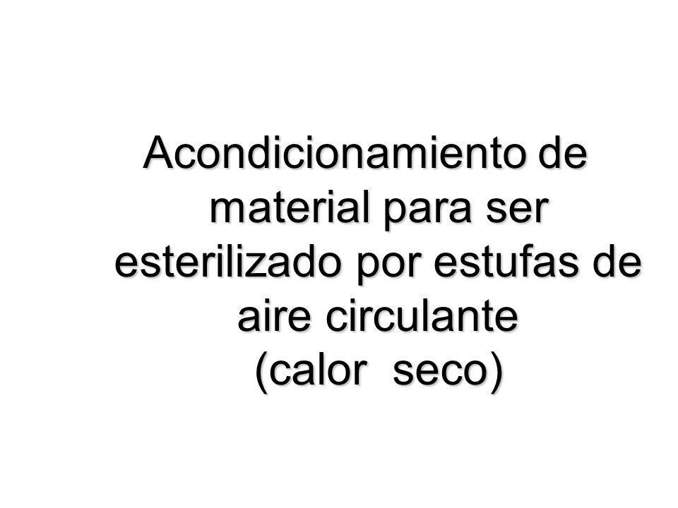 Acondicionamiento de material para ser esterilizado por estufas de aire circulante (calor seco)
