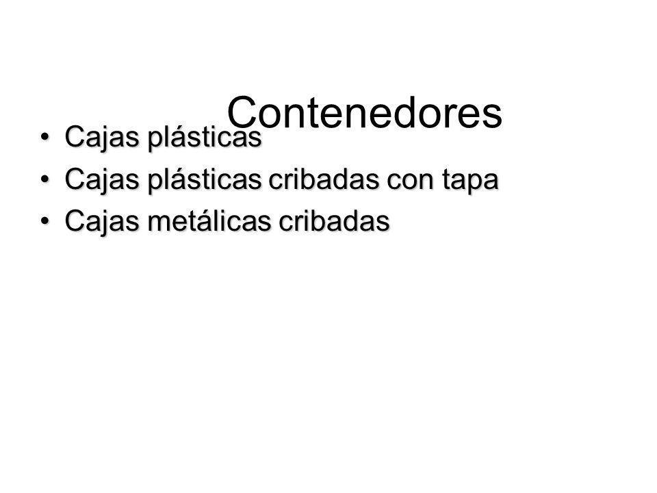 Contenedores Cajas plásticas Cajas plásticas cribadas con tapa
