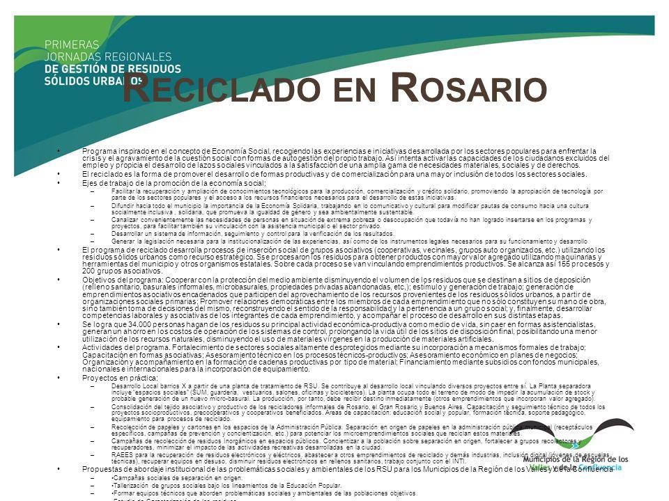 Reciclado en Rosario