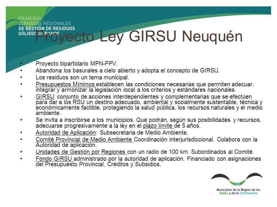 Proyecto Ley GIRSU Neuquén