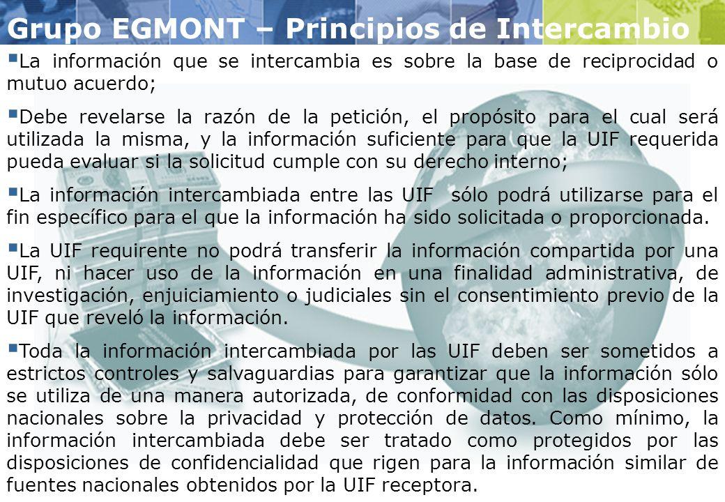 Grupo EGMONT – Principios de Intercambio