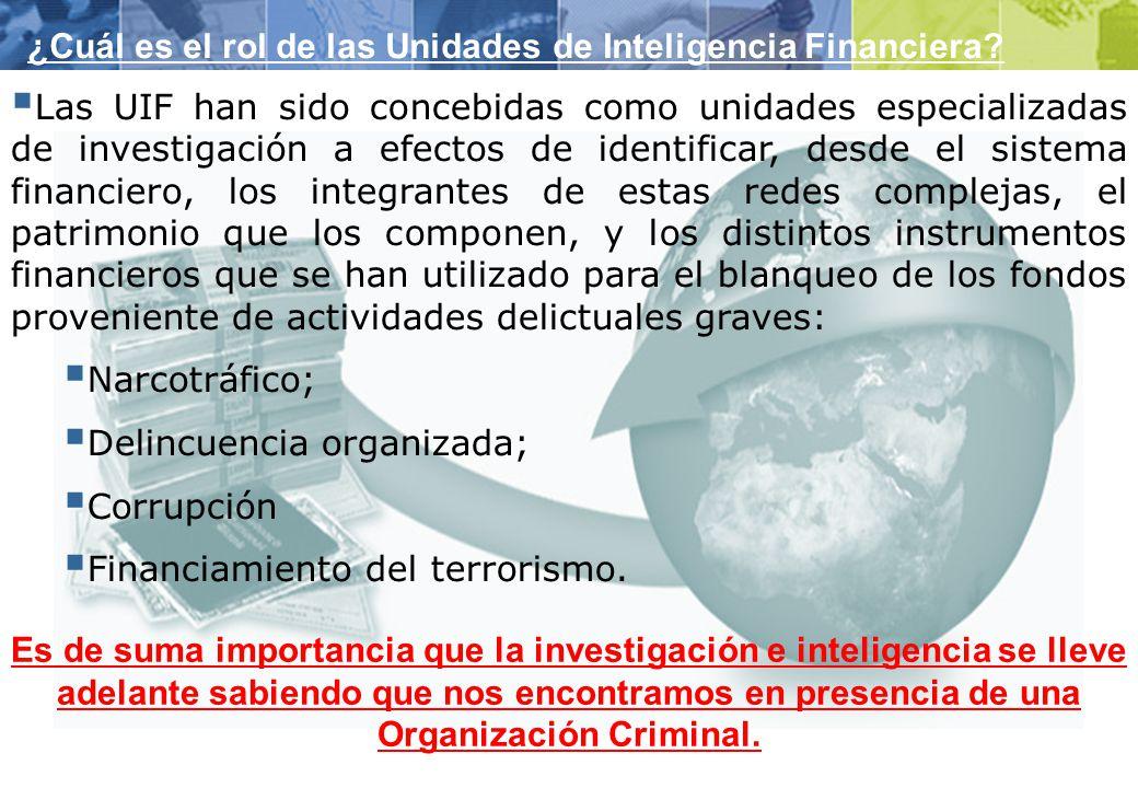 ¿Cuál es el rol de las Unidades de Inteligencia Financiera