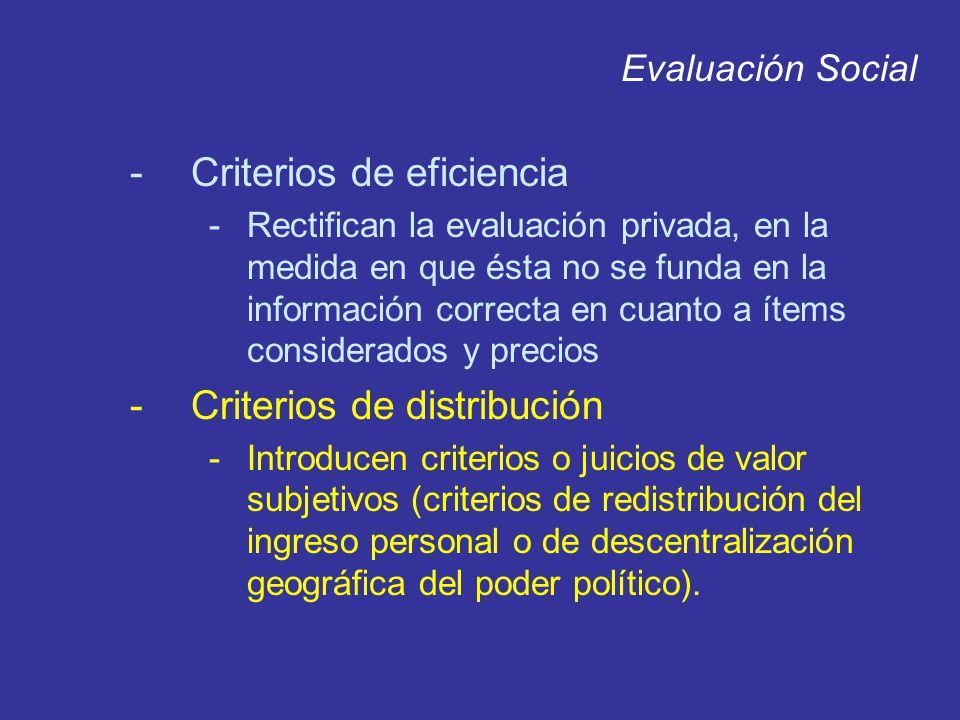 Criterios de eficiencia