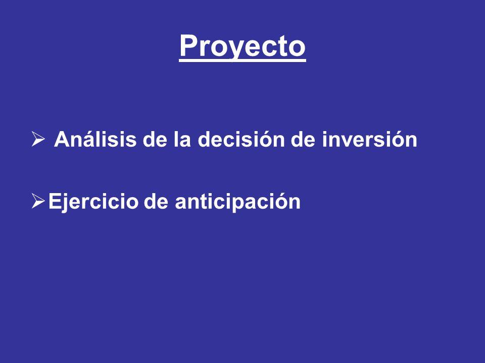 Proyecto Análisis de la decisión de inversión