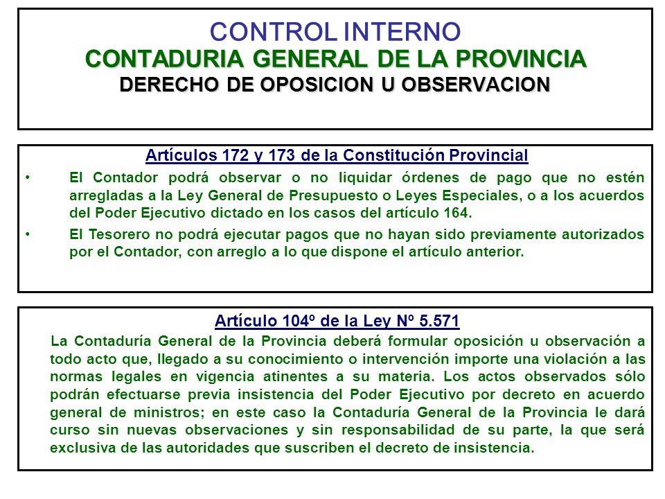 Artículos 172 y 173 de la Constitución Provincial