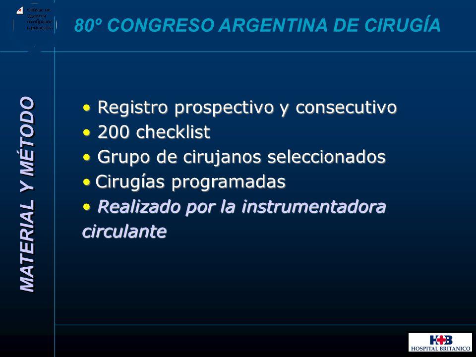 80º CONGRESO ARGENTINA DE CIRUGÍA