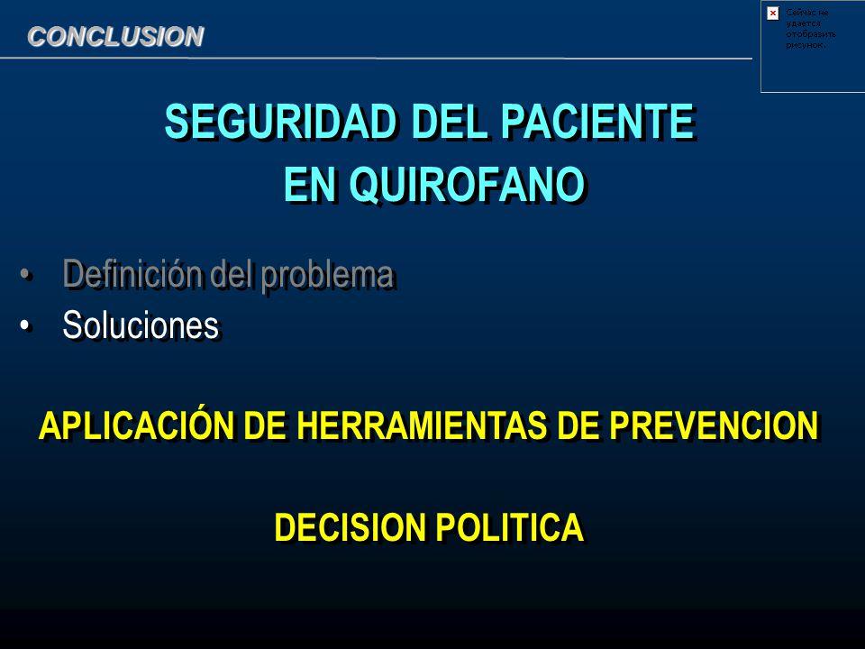 SEGURIDAD DEL PACIENTE APLICACIÓN DE HERRAMIENTAS DE PREVENCION