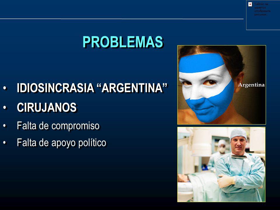 PROBLEMAS IDIOSINCRASIA ARGENTINA CIRUJANOS Falta de compromiso
