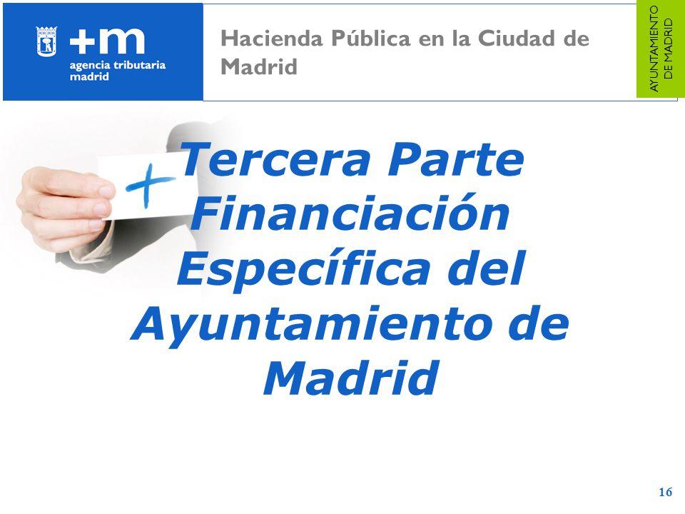 Financiación Específica del Ayuntamiento de Madrid