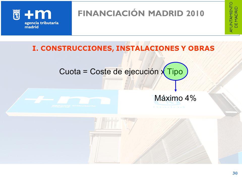 I. CONSTRUCCIONES, INSTALACIONES Y OBRAS