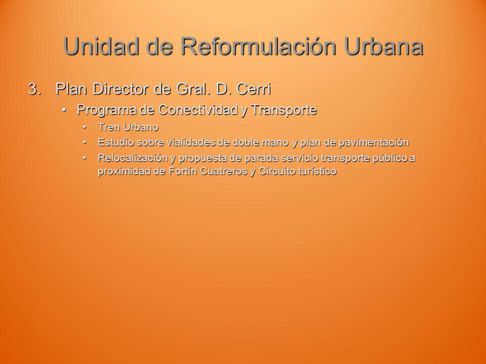 Unidad de Reformulación Urbana