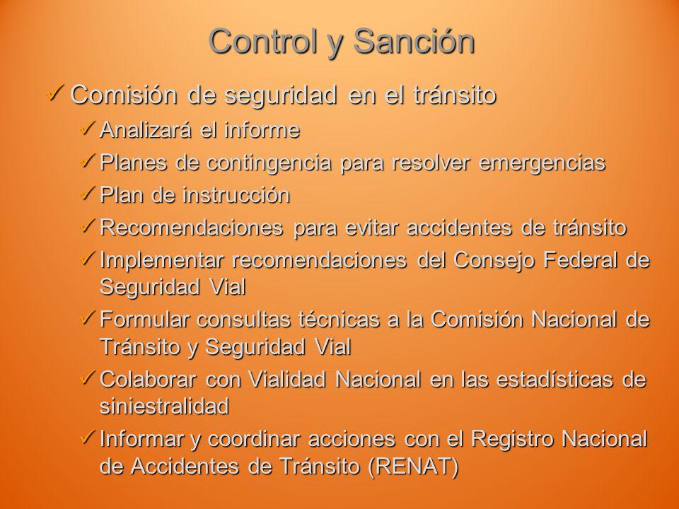 Control y Sanción Comisión de seguridad en el tránsito