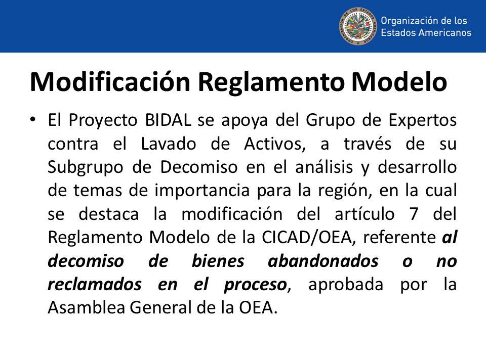 Modificación Reglamento Modelo