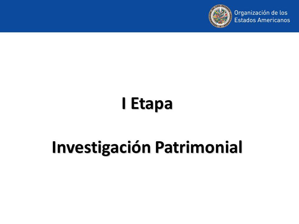 I Etapa Investigación Patrimonial