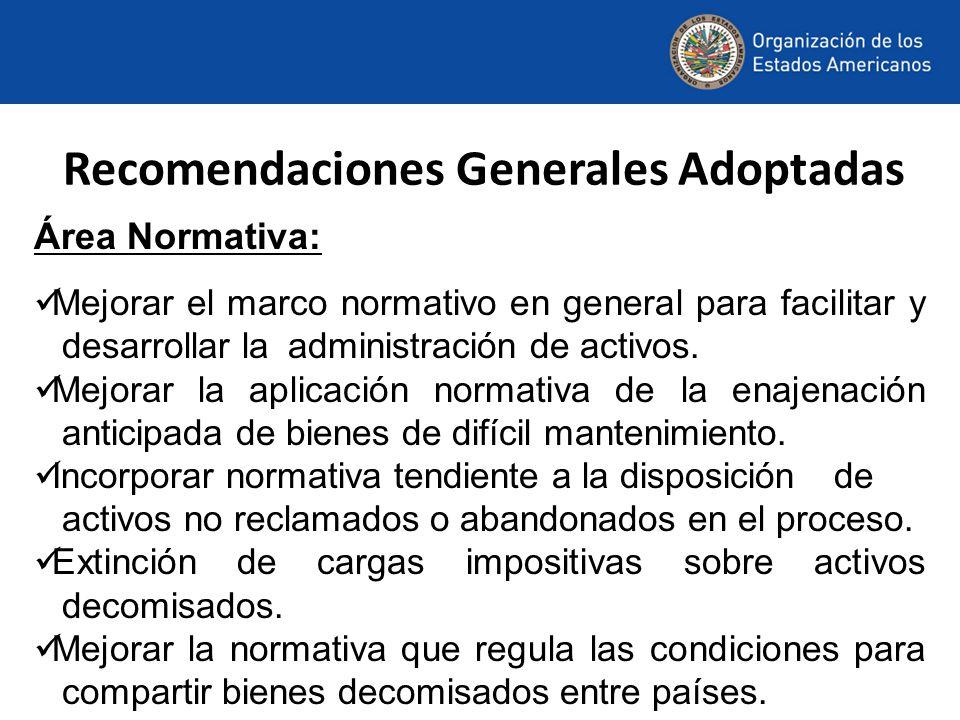 Recomendaciones Generales Adoptadas
