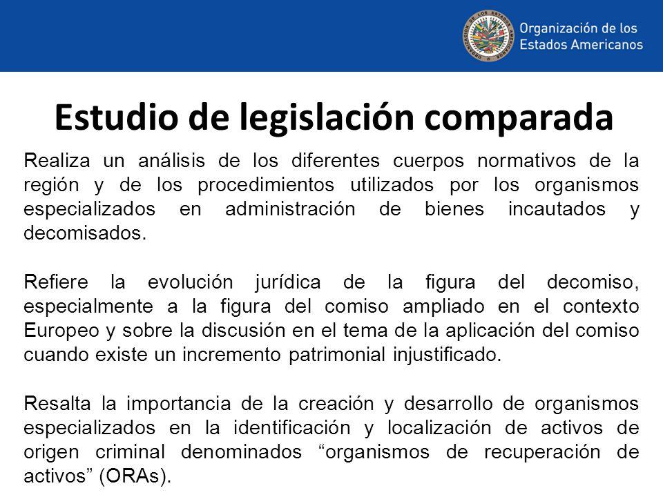 Estudio de legislación comparada