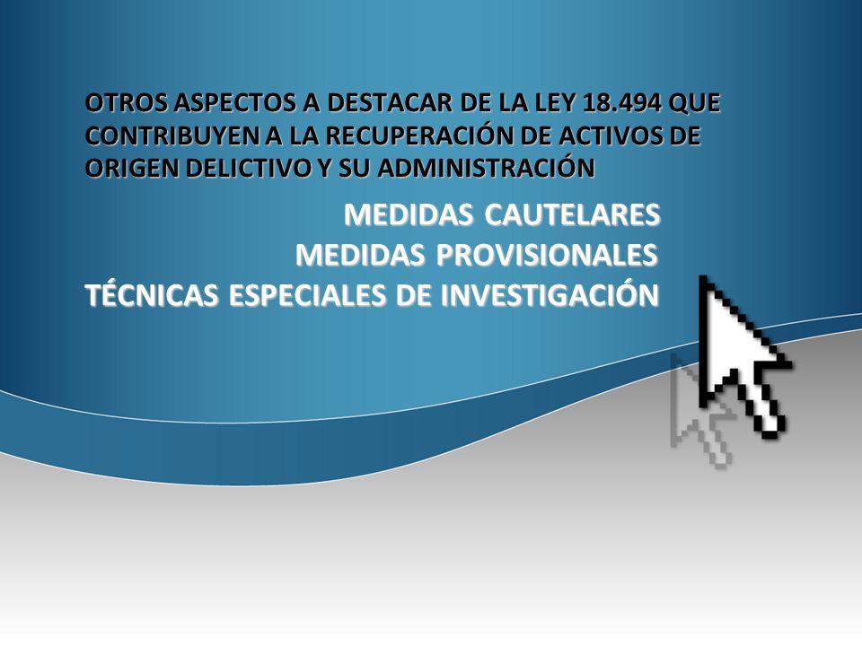 MEDIDAS PROVISIONALES TÉCNICAS ESPECIALES DE INVESTIGACIÓN
