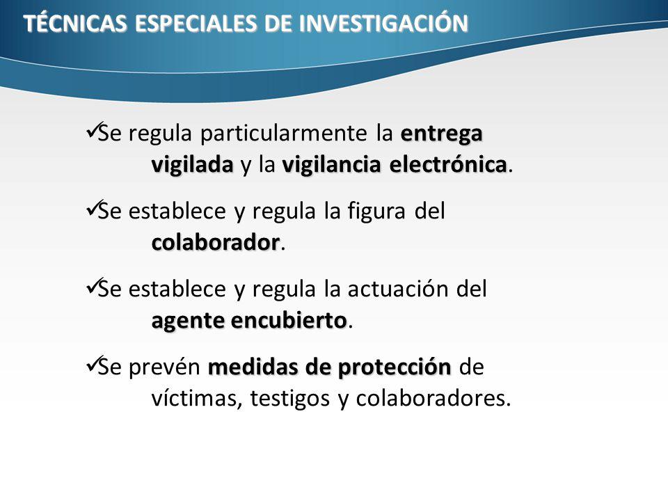 TÉCNICAS ESPECIALES DE INVESTIGACIÓN