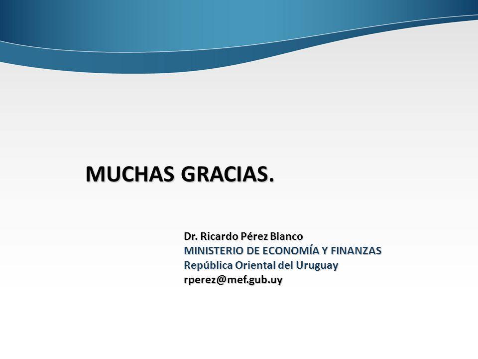 MUCHAS GRACIAS. Dr. Ricardo Pérez Blanco