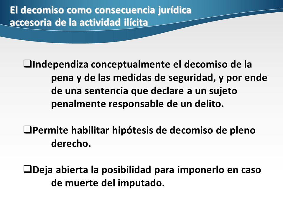 El decomiso como consecuencia jurídica accesoria de la actividad ilícita
