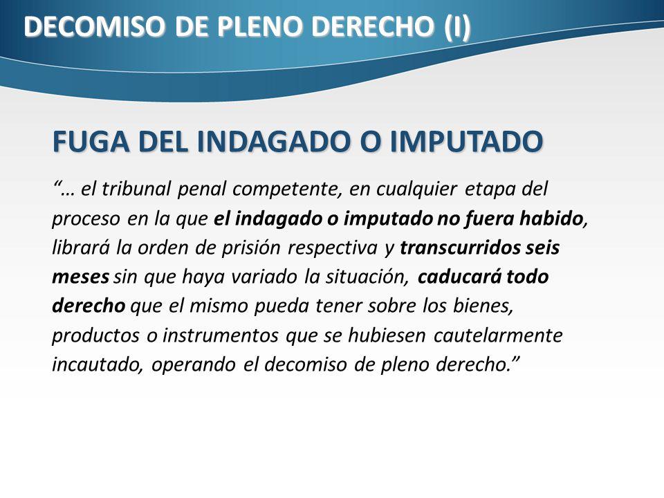 DECOMISO DE PLENO DERECHO (I)