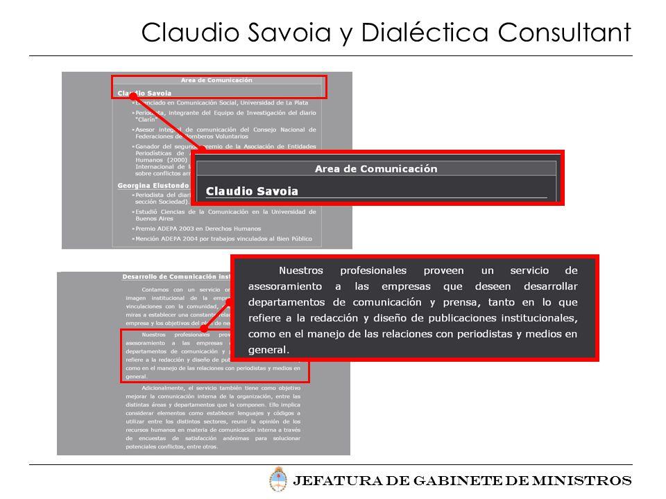Claudio Savoia y Dialéctica Consultant