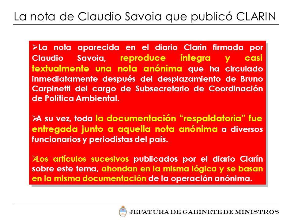La nota de Claudio Savoia que publicó CLARIN