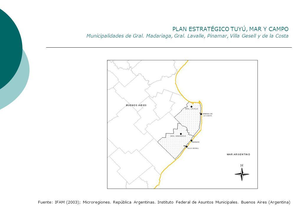 PLAN ESTRATÉGICO TUYÚ, MAR Y CAMPO Municipalidades de Gral