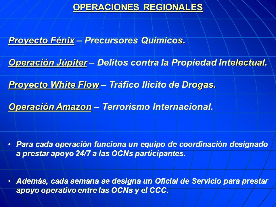 OPERACIONES REGIONALES