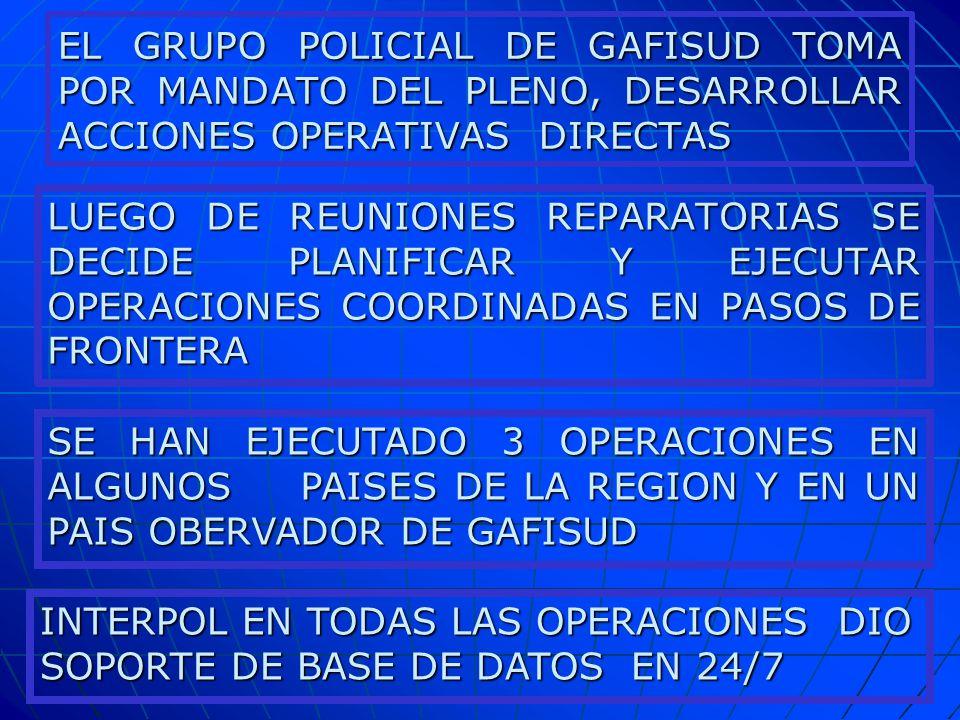 INTERPOL EN TODAS LAS OPERACIONES DIO SOPORTE DE BASE DE DATOS EN 24/7