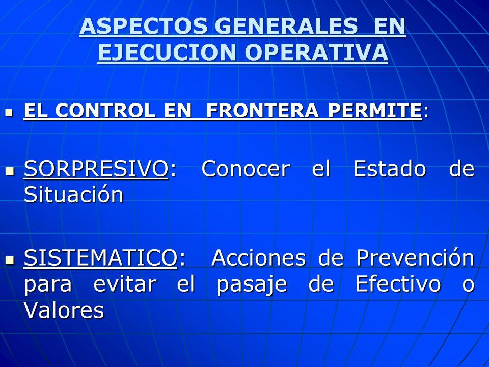 ASPECTOS GENERALES EN EJECUCION OPERATIVA