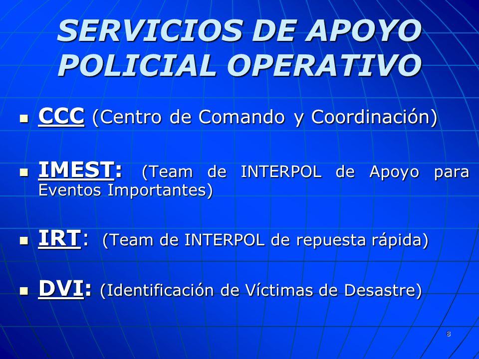 SERVICIOS DE APOYO POLICIAL OPERATIVO