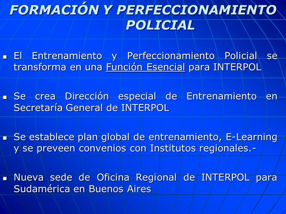 FORMACIÓN Y PERFECCIONAMIENTO POLICIAL
