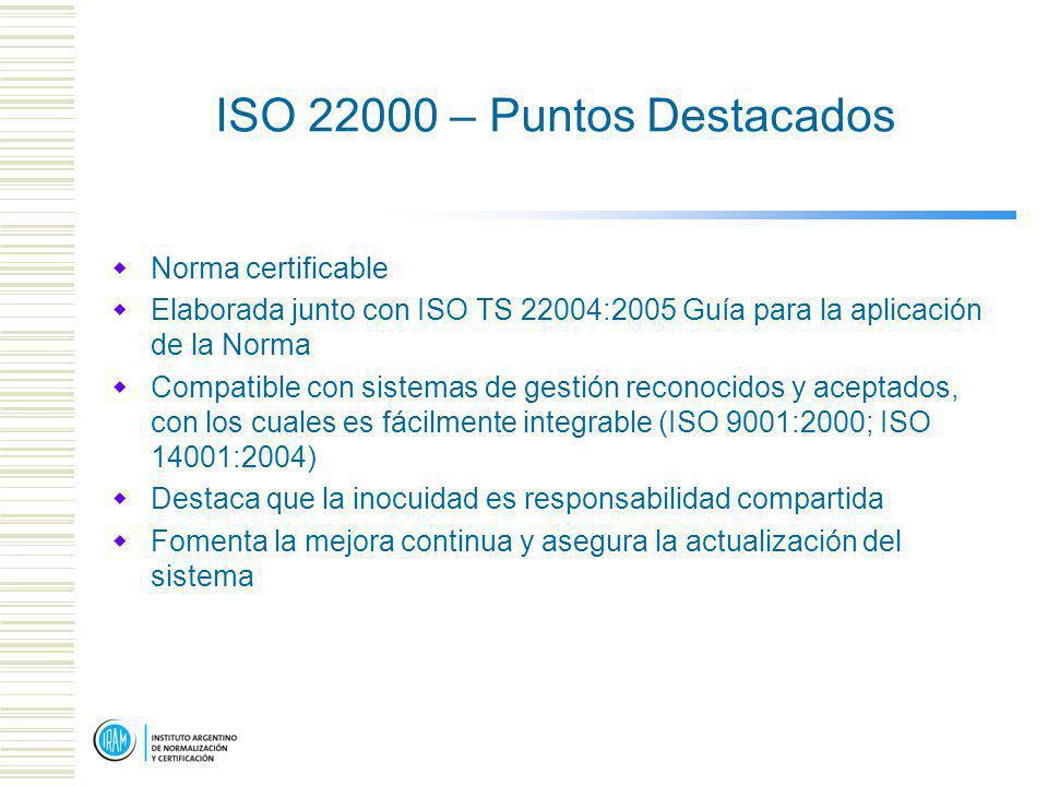 ISO 22000 – Puntos Destacados