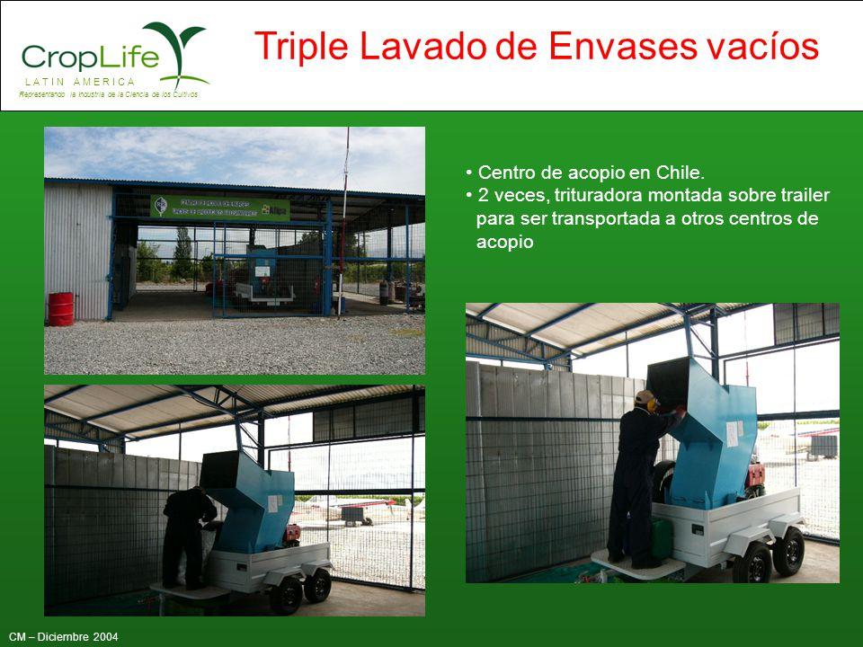 Centro de acopio en Chile.