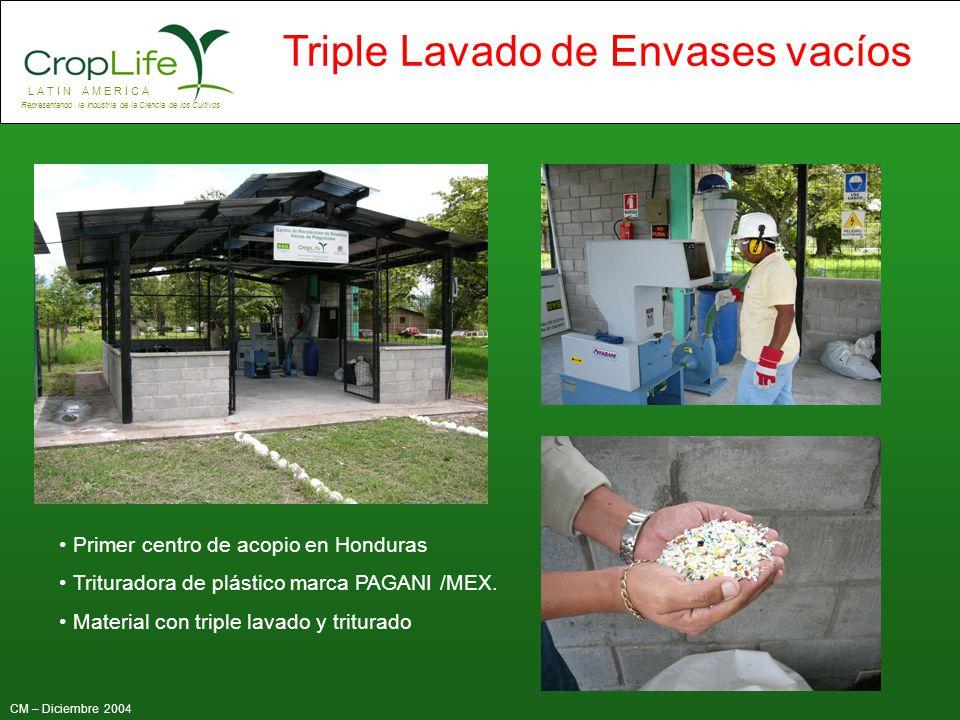 Primer centro de acopio en Honduras