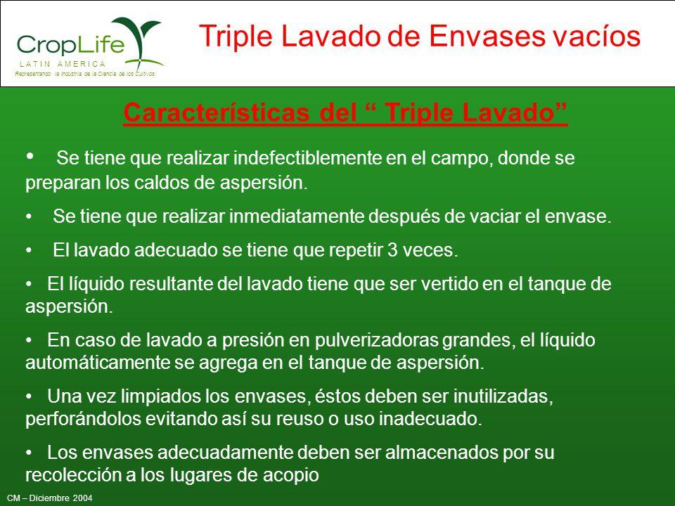 Características del Triple Lavado