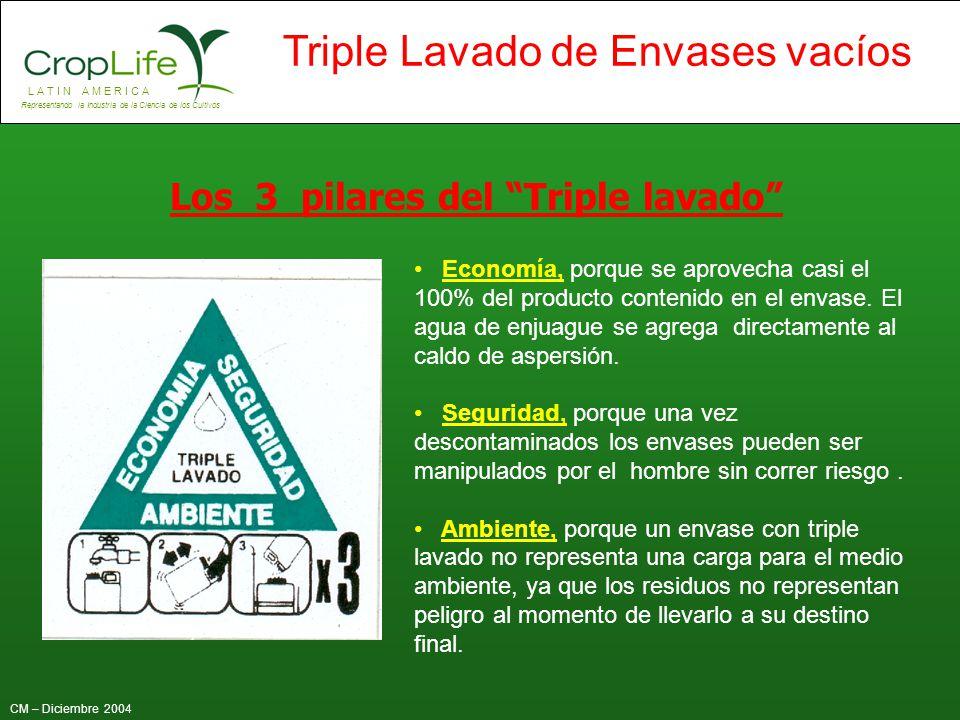 Los 3 pilares del Triple lavado