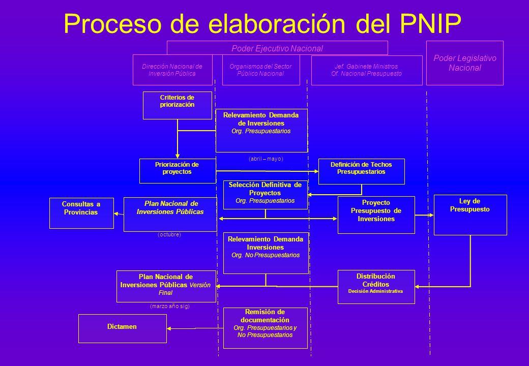 Proceso de elaboración del PNIP